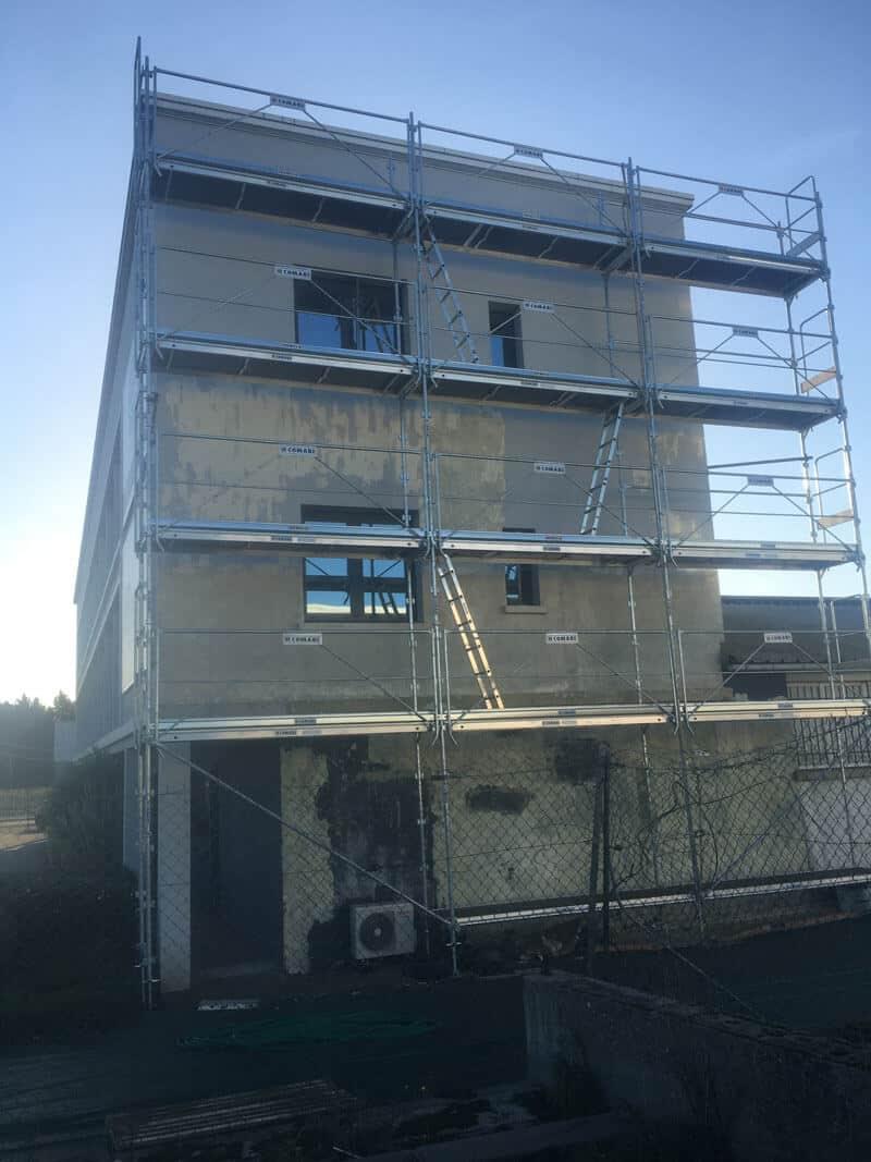 Ravalement d'un bâtiment à Caen (avant travaux) - Rénovation de façades