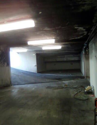 Avant Travaux de Peinture parking à Caen (Remise en était après incendie)