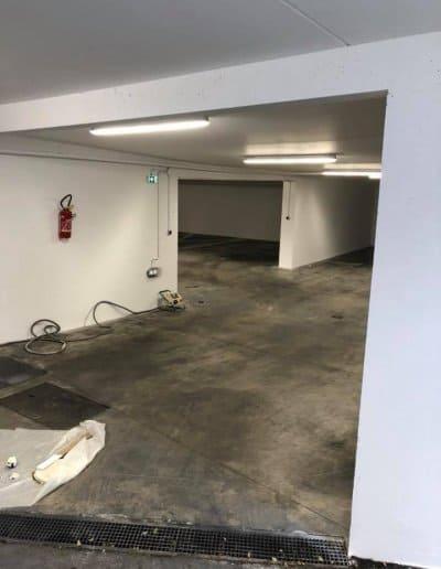 Peinture parking à Caen (Remise en était après incendie)