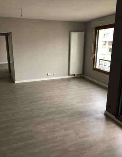 Revêtement de sols et peinture d'un appartement à Caen (Calvados -14)