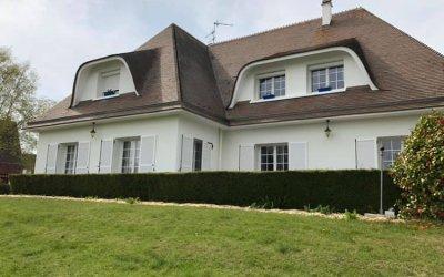 Ravalement d'une belle maison à Ifs (Caen)