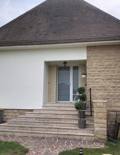 Ravalement d'une maison à Ifs (Caen - Calvados -14) - Façade laterale
