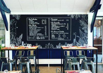 Décoration intérieure - peinture du restaurant du Golf de Caen - 2B Peinture