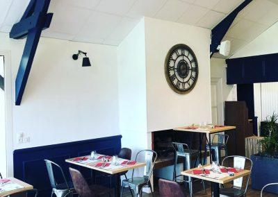 Décoration intérieure - peinture salle du restaurant du Golf de Caen - 2B Peinture