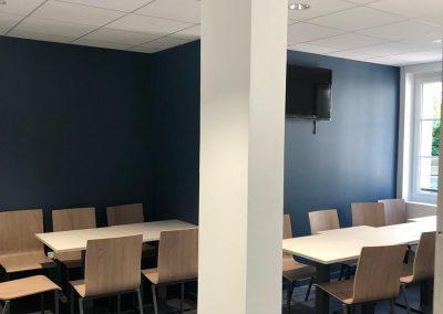 peinture intérieure à Caen - Espace pause, café KEOLIS - TWISTO