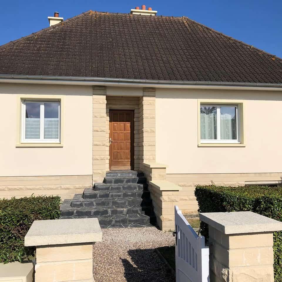 Ravalement d'une maison à Caen Ouest