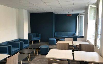 Peinture et Revêtements de sols d'un espace pause à Caen – Keolis Twisto