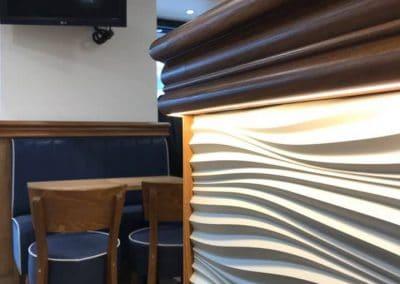 Peinture intérieure décorative café bar Port En Bessin Calvados 14