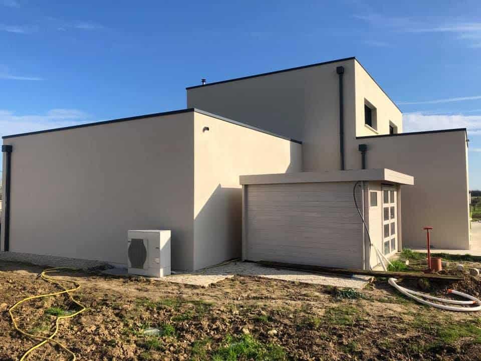 Ravalement d'une maison moderne dans le Calvados