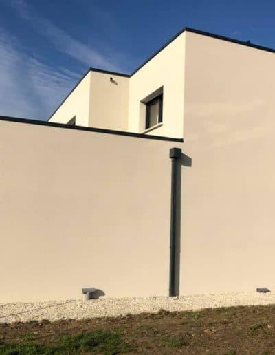 Ravalement façade d'une maison moderne dans le Calvados (14)