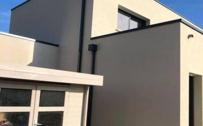 Ravalement de façades d'une maison moderne – Normandie (14)