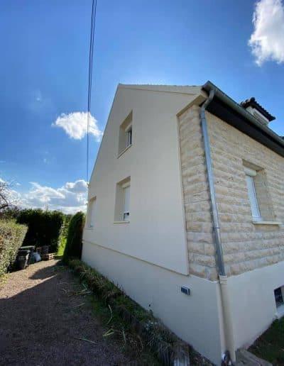 Ravalement et nettoyage de maison avec pierre de Caen