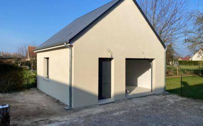 Ravalement de façades pour une maison neuve à Caen (14)